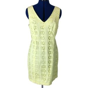 Tommy Hilfiger Mini Flower Yellow Dress Sz 14